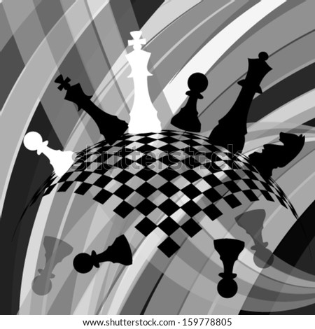 Abstract chess - stock vector