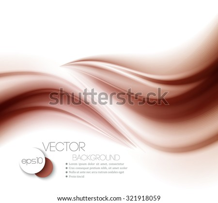 Abstract chocolate background, brown abstract satin. Vector illustration - stock vector