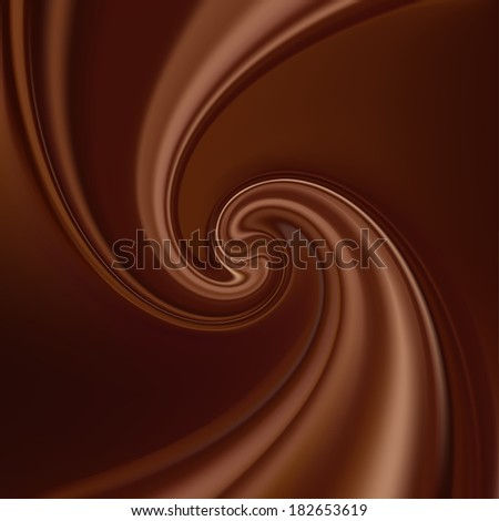 Abstract Chocolate Background, Brown Drapery Silk, Mesh Vector Illustration