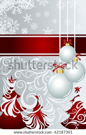 Abstract christmas background. Illustration vector. - stock vector