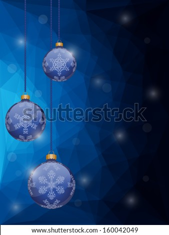 Abstract christmas background with a holiday baubles. EPS10 vector illustration.