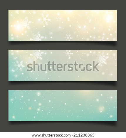 Abstract Christmas background with snowflakes and place for text. Vector Illustration.