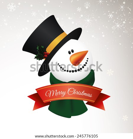 Abstract Christmas background with some special objects - stock vector