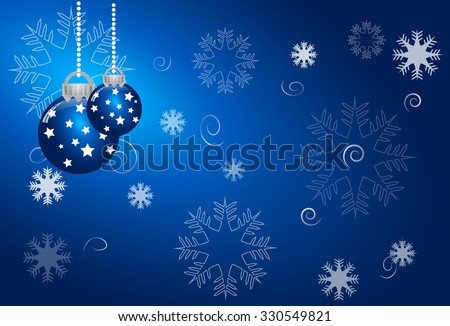 abstract christmas blue vector background - stock vector