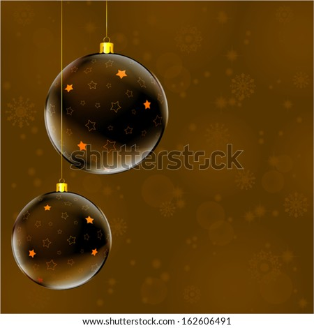 abstract christmas colorful ball on the colorful dark background