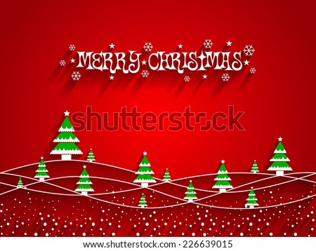 Abstract Christmas Design Christmas Trees - stock vector