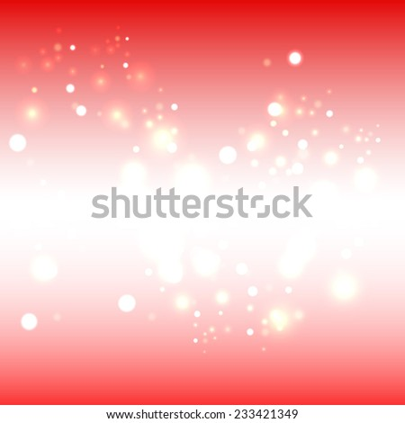 Abstract Christmas lights on background - stock vector