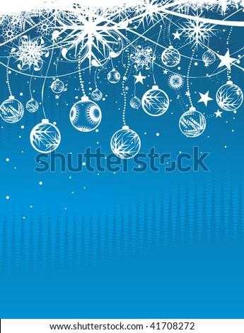 Abstract christmas snow on wave line background, vector illustration for xmas - stock vector