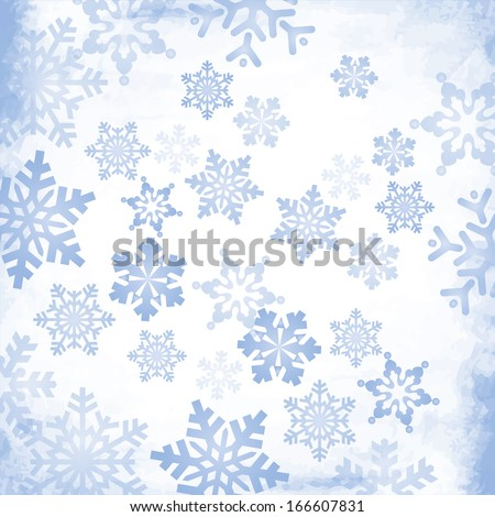 Abstract Christmas Snowflake Background. EPS10 - stock vector