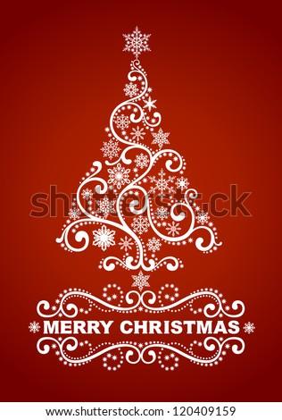 Abstract christmas tree. EPS 8 - stock vector