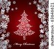 Abstract christmas tree. Illustration - stock vector