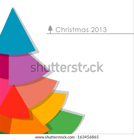 Abstract Christmas tree isolated on background,  Vector Illustration, EPS 10 - stock vector