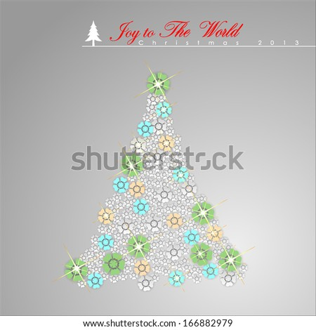 Abstract Christmas Tree. Vector Illustration, EPS 10  - stock vector