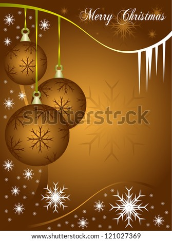 Abstract christmas vector illustration in shades of copper with room for text - stock vector