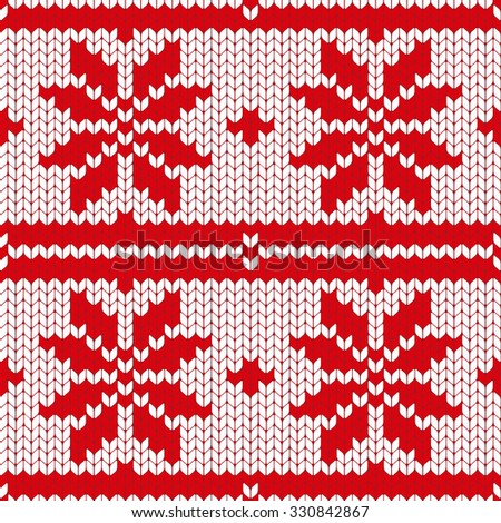 Abstract Christmas Vector Seamless Knitting Pattern Stock Vector