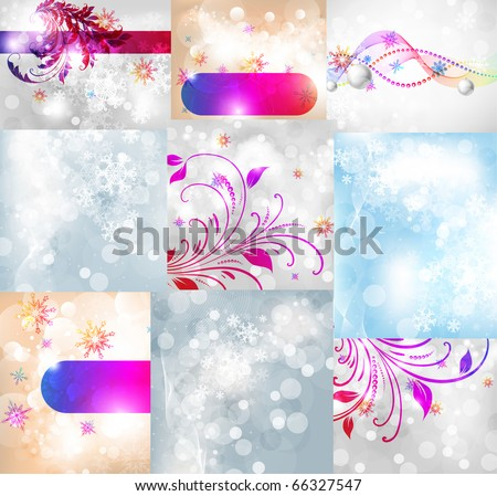 Abstract christmas vector set for new year design. eps 10 - stock vector