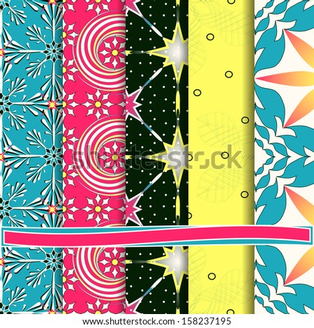 abstract Christmas vector set of paper for scrapbook