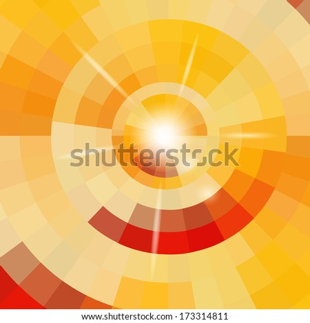 Abstract circle background - stock vector