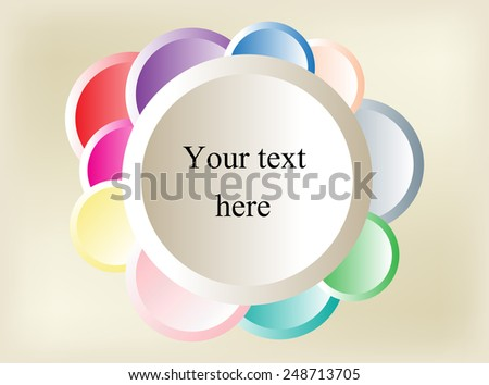 Abstract circle background.Round banner vector illustration. - stock vector