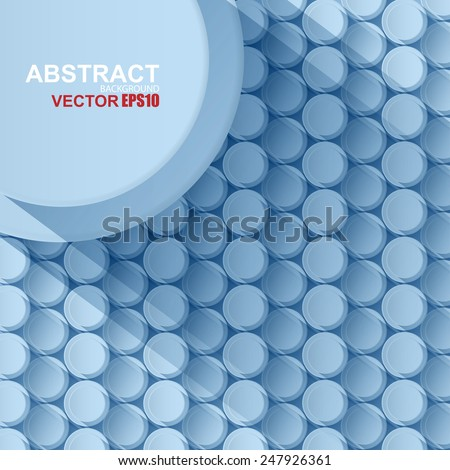 Abstract circle background with drop shadows - stock vector
