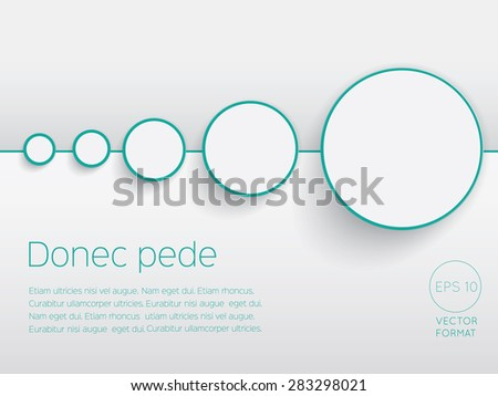 Abstract circle blank business background template stock vector abstract circle blank business background template vector design concept accmission Gallery