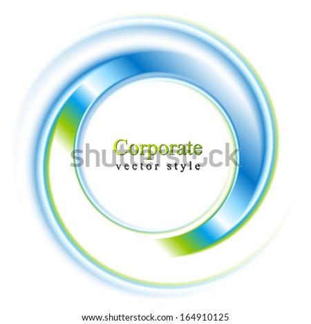 Abstract circle bright background. Vector logo eps 10 - stock vector