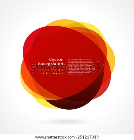 Abstract circle frame. Vector logo design template - stock vector