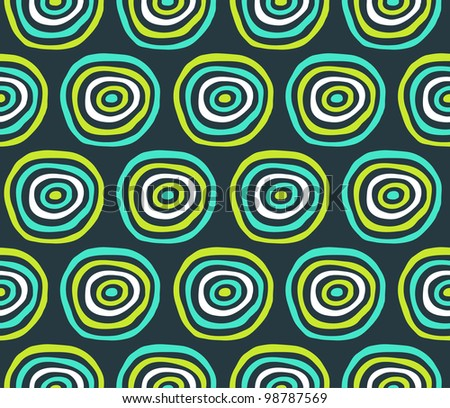 Abstract circle green and blue pattern. Vector illustration