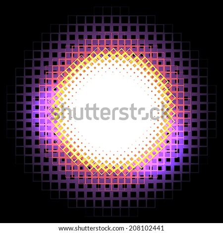 Abstract circle halftone - stock vector