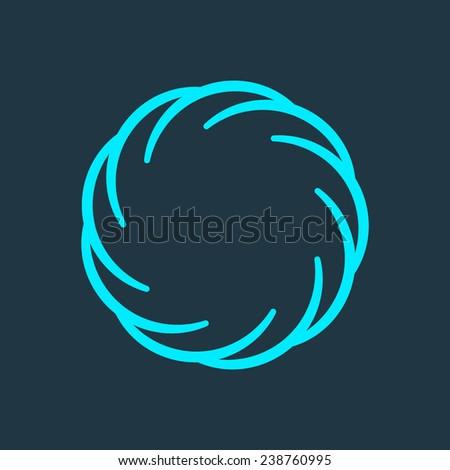 Abstract circle  logo - stock vector