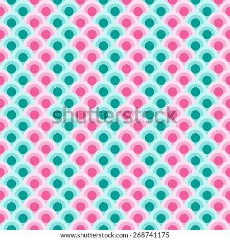 Abstract circle pattern wallpaper.  Endless texture can be used for wallpaper, pattern fills, web page background, surface texture. - stock vector