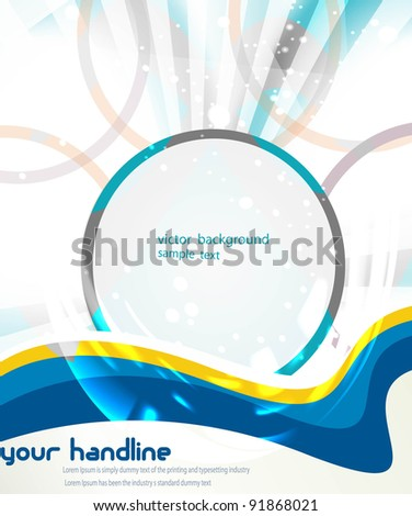 abstract circle sample text eps10 vector background