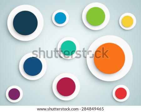 Abstract Circle Vector Background  - stock vector