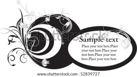 Abstract circles and flowers pattern