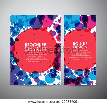 Abstract circles background brochure business design template or roll up.  - stock vector