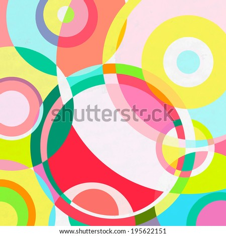 Abstract circles background, flat style, vector illustration - stock vector