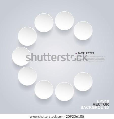 Abstract Circles Design - stock vector