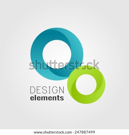Abstract circles design elements - stock vector