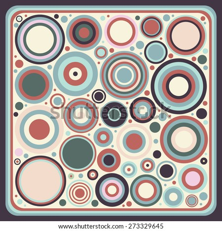 abstract circles in frame - stock vector