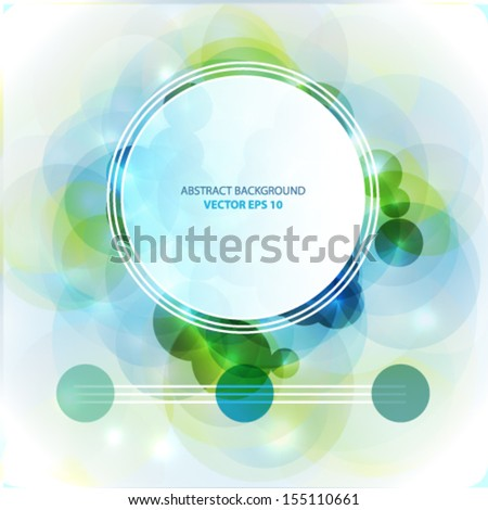 Abstract circles light vector background - stock vector