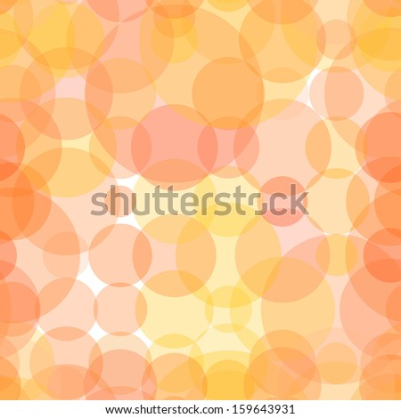 Abstract circles red seamless vector background.  - stock vector