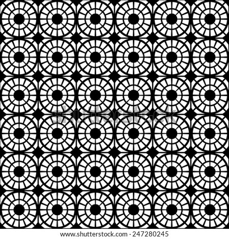 Abstract circles seamless pattern. - stock vector