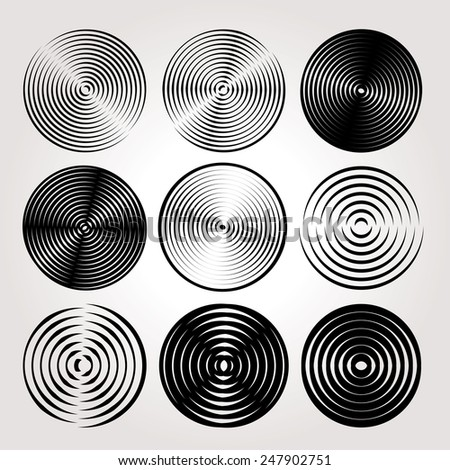 Abstract circles vector set. - stock vector