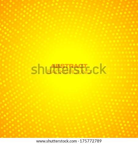 Abstract Circular Orange Background. Vector illustration  - stock vector