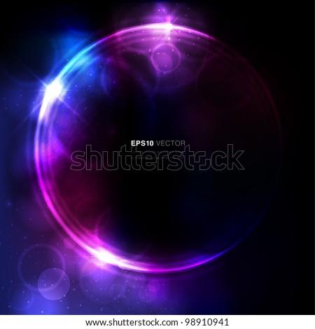 Abstract circular space design - stock vector