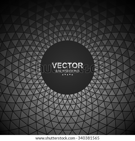 Abstract circular triangle background. - stock vector