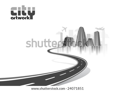 abstract city - stock vector