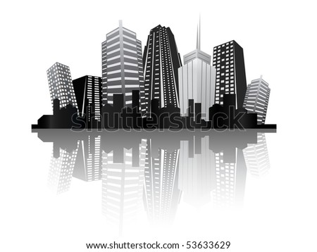 abstract city design - stock vector