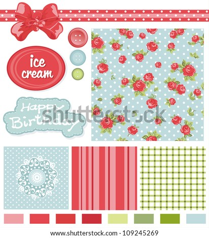 Abstract Classic design Elements for scrap-booking, greeting cards, wallpaper, textiles. Elegance vector illustration.