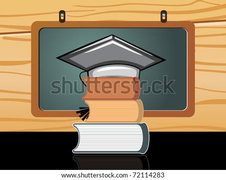 abstract classroom background, vector illustration
